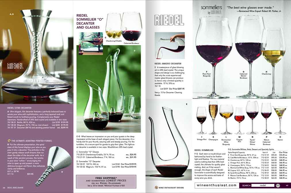 wine catalog page layout