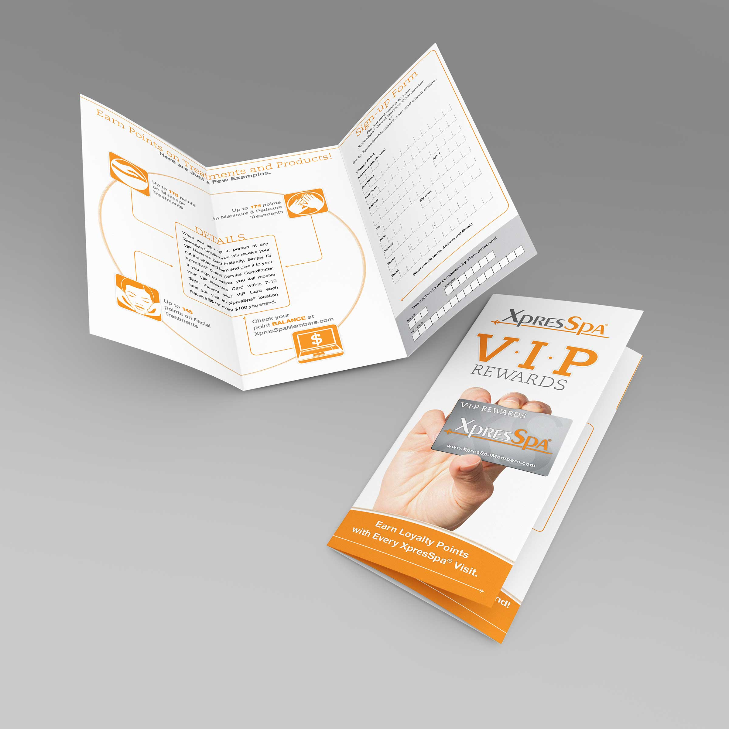 loyalty program brochure design